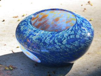 blown glass nest bowl