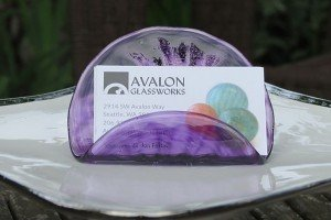 Business card holder seattle art glass gallery glass blowing unique and classy glass business card holder is sure to please your favorite executive business owner office mate long time employee or entrepreneur colourmoves