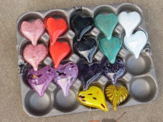Solid Glass Hearts